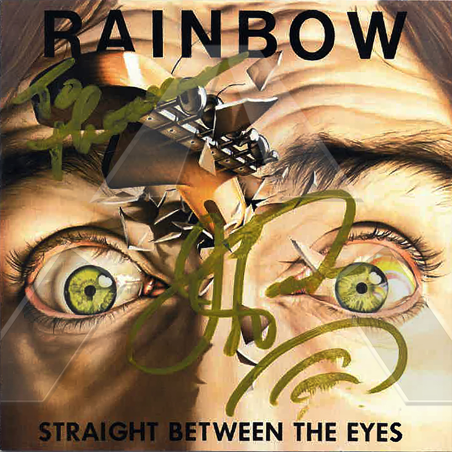 Rainbow ★ Straight Between the Eyes (cd album EU 5473662 signed)