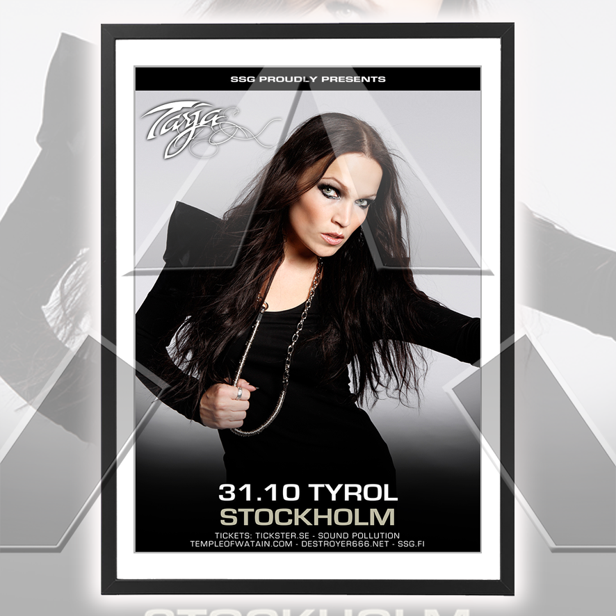 Tarja Turunen ★ Sweden 2010 (tour poster - 2 versions)