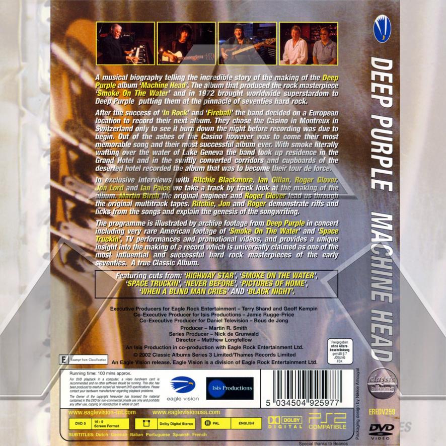 Deep Purple ★ Machine Head (dvd - EU EREDV259)