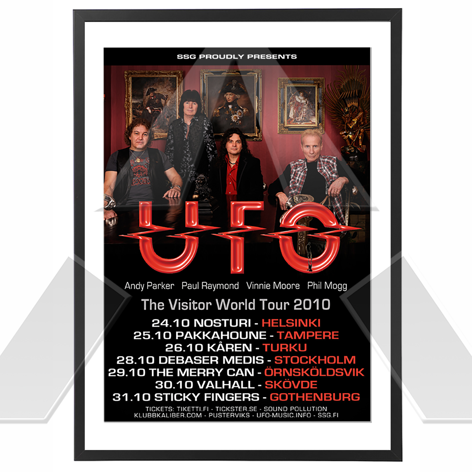UFO ★ The Visitor World Tour 2010 (tour poster)