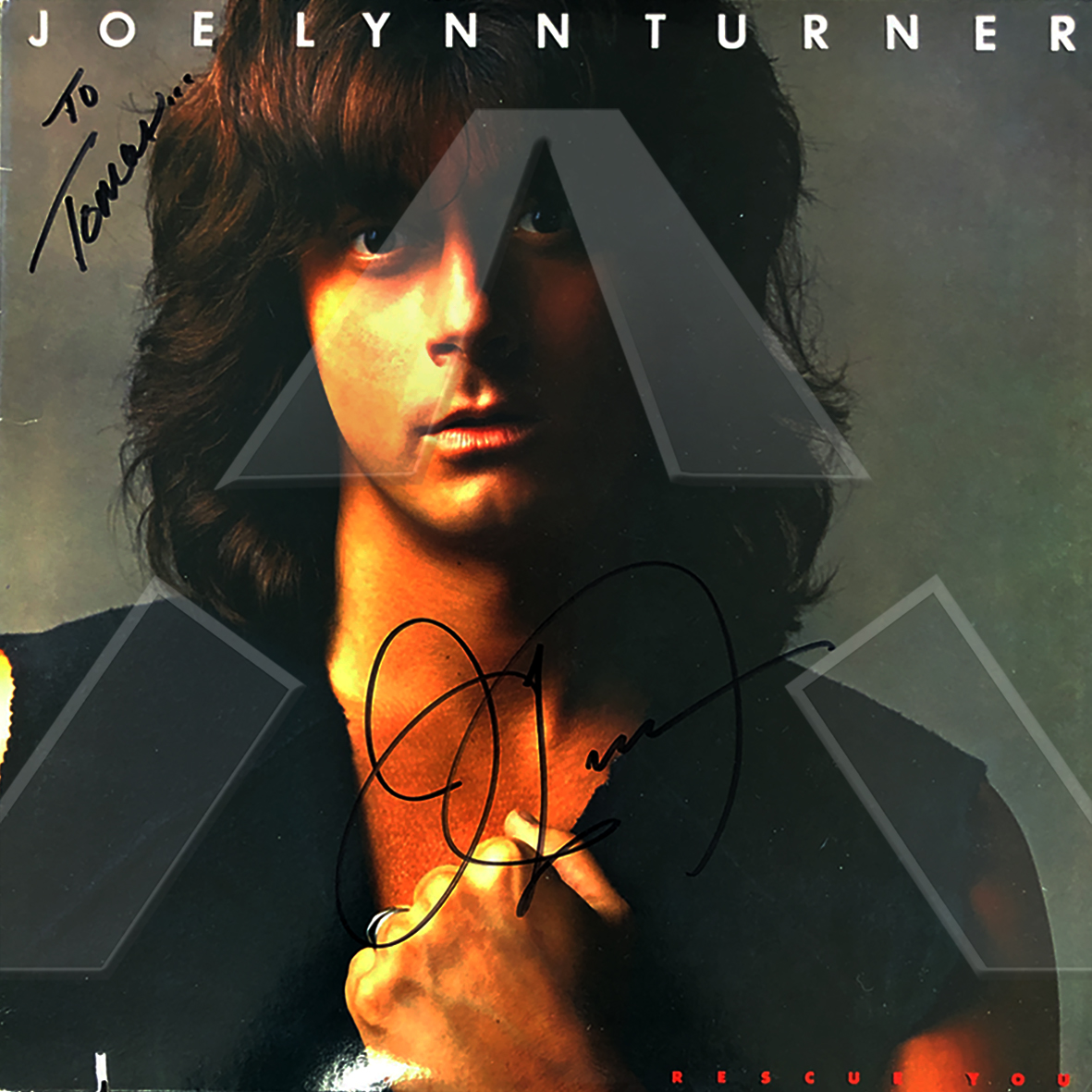 Joe Lynn Turner ★ Rescue You (vinyl album EU ST12521 signed)