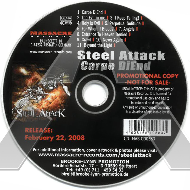 Steel Attack ★ Carpe DiEnd (promo cd album)