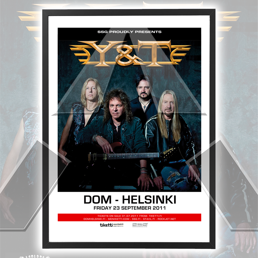 Y&T ★ Finland 2011 (tour poster - 2 versions)