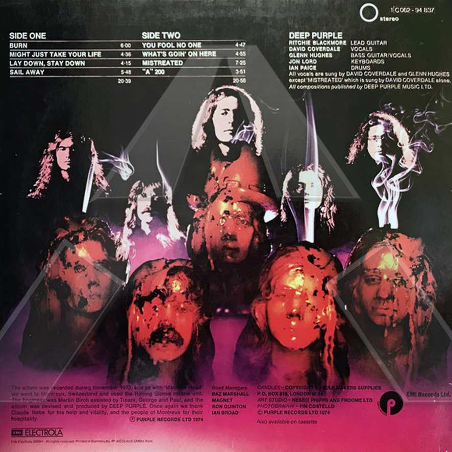 Deep Purple ★ Burn (vinyl album EU 1C07294837)