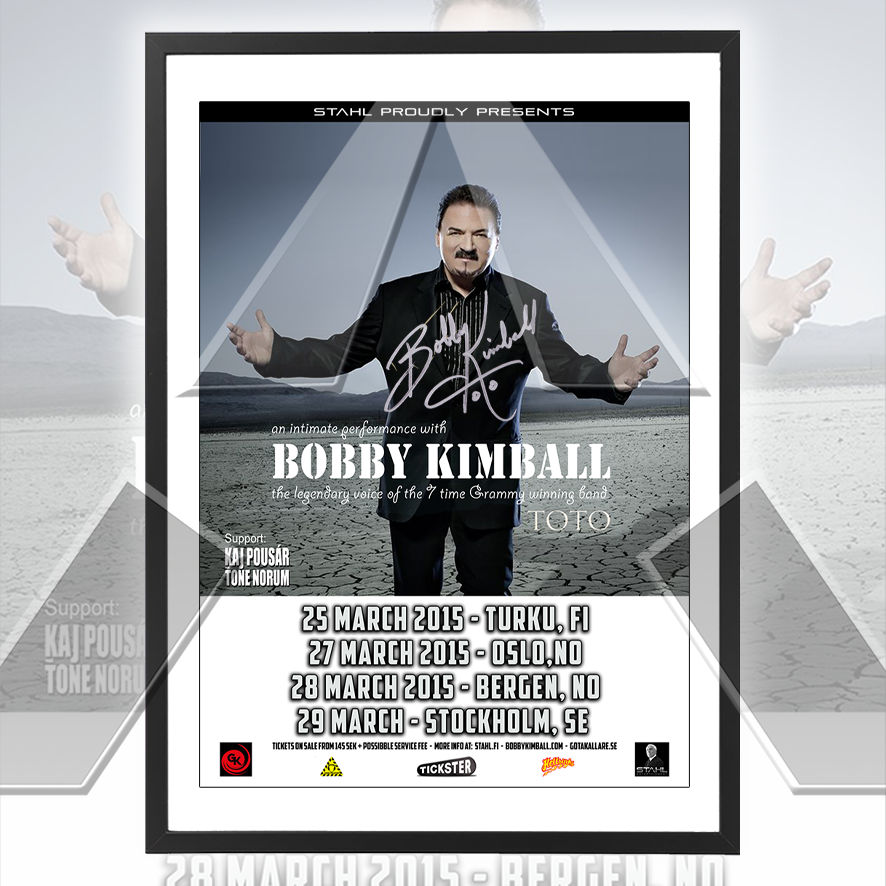 Bobby Kimball ★ An Intimate Performance 2015 (tour poster - 3 versions)
