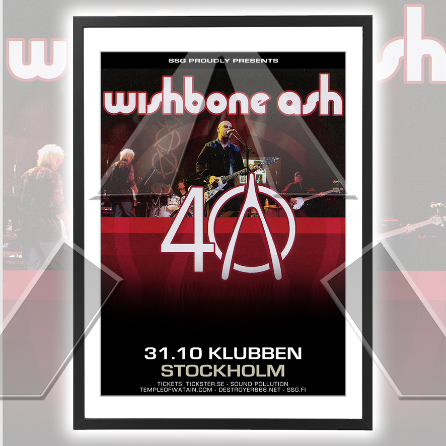 Wishbone Ash ★ Sweden 2011 (tour poster - 2 versions)