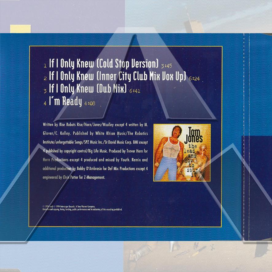 Tom Jones ★ If I Only Knew (cd single EU 6544958192)
