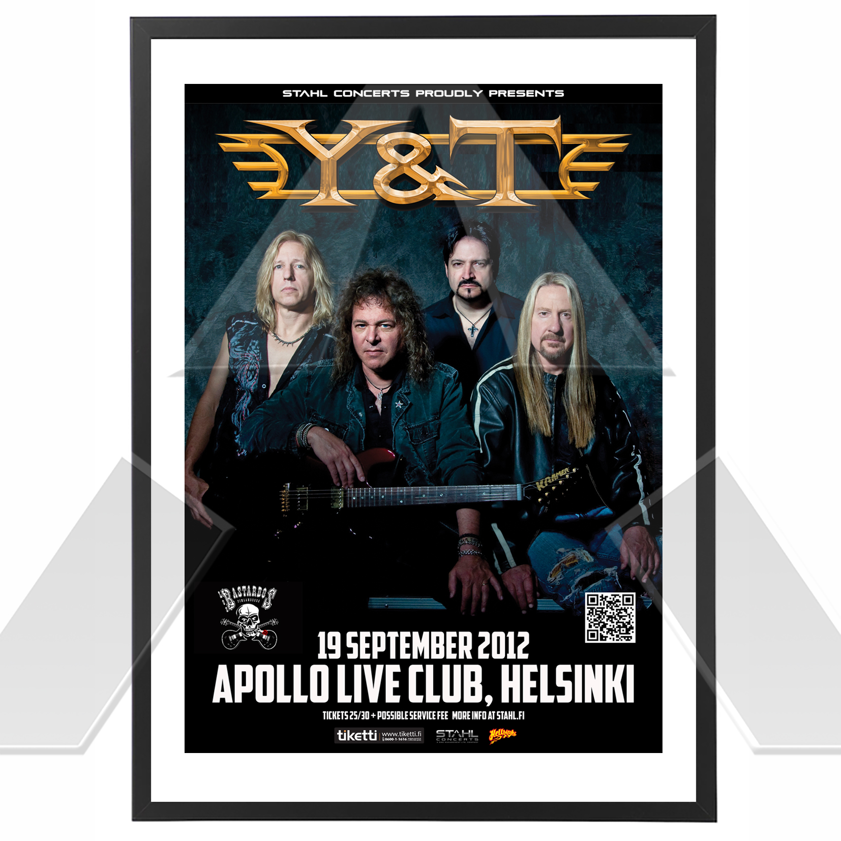 Y&T ★ Finland 2012 (tour poster)