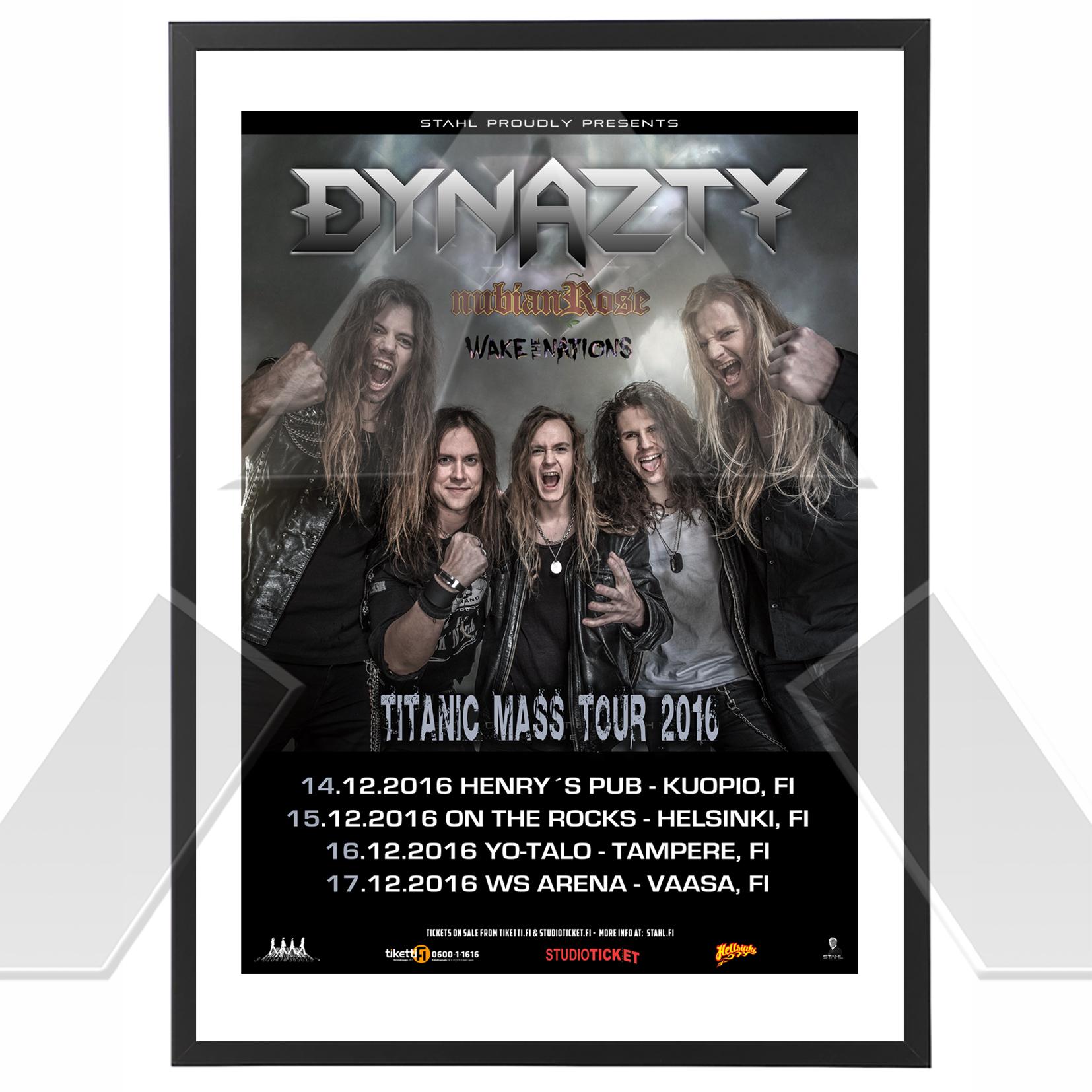 Dynazty ★ Titanic Mass Tour 2016 (tour poster)