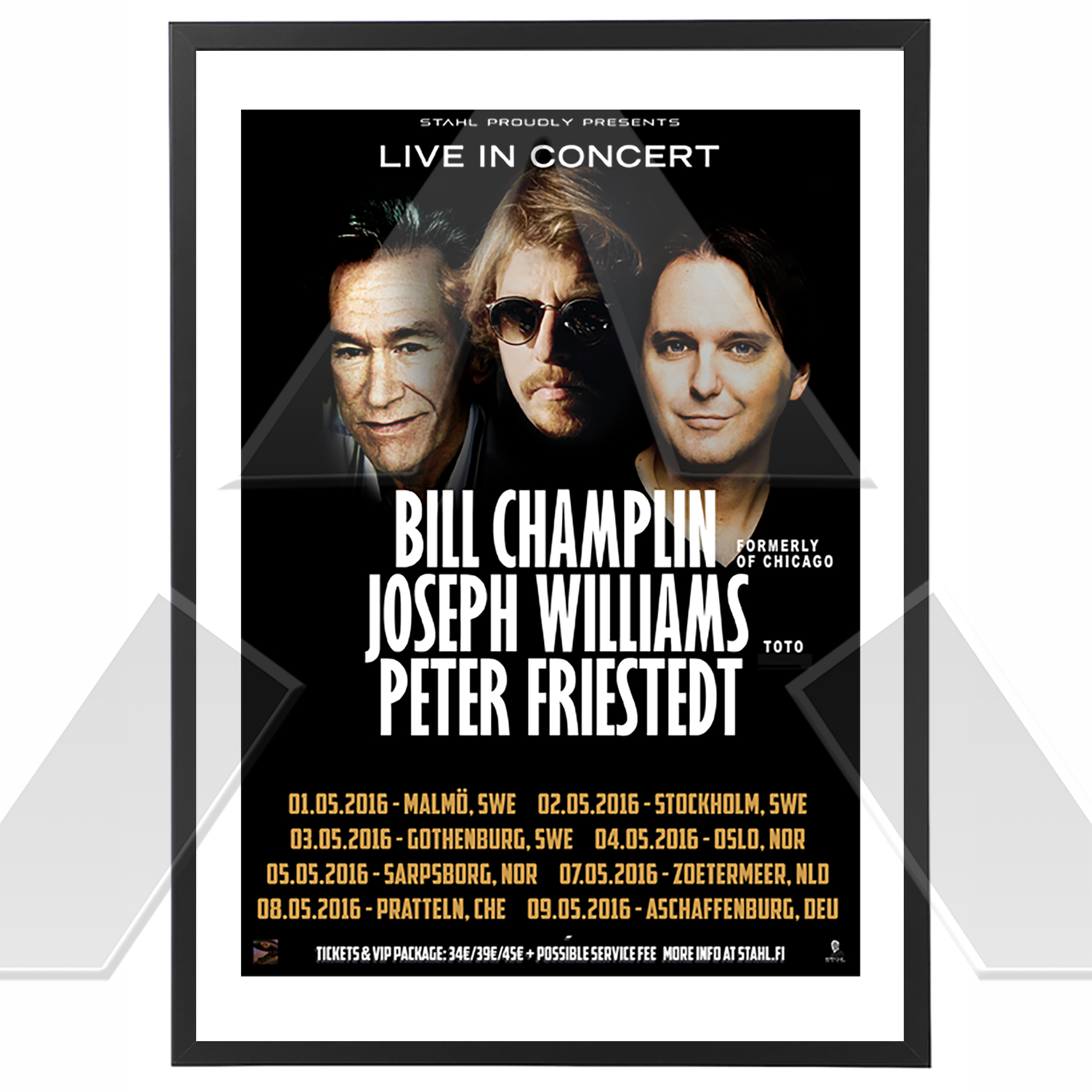 Champlin Williams Friestedt ★ Live in Concert 2016 (tour poster)