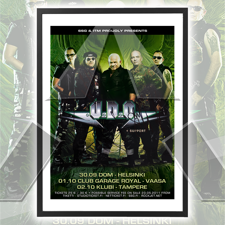 U.D.O. ★ Finland 2011 (tour poster - 3 versions)