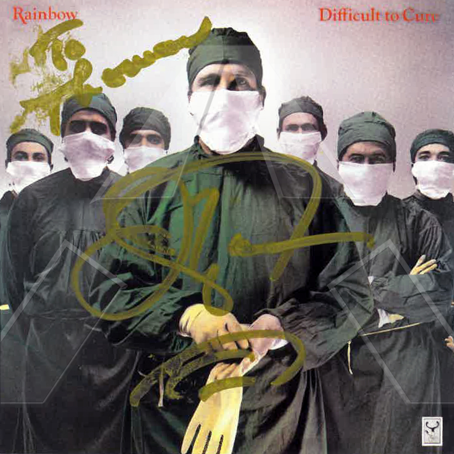 Rainbow ★ Difficult to Cure (cd album EU 5473652 signed)
