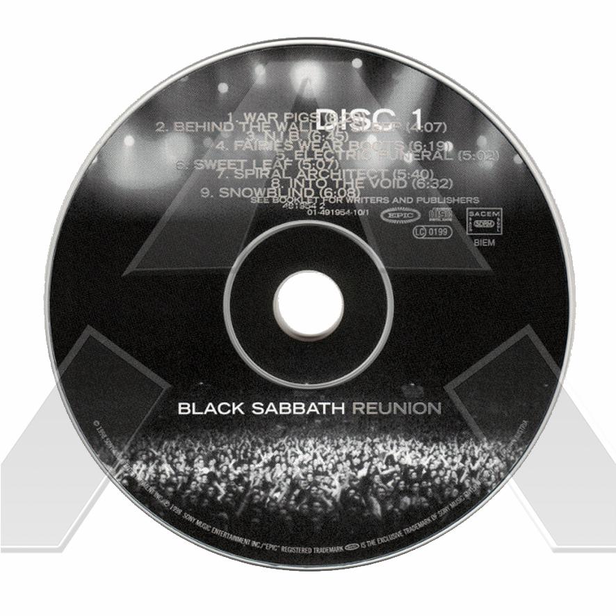 Black Sabbath ★ Reunion - Limited Edition (cd album EU 4919542)