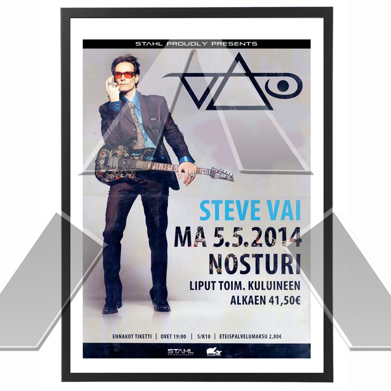 Steve Vai ★ Ray of Light Tour 2014 (tour poster standard/signed)