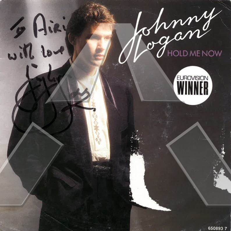 Johnny Logan ★ Hold Me Now (vinyl single EU signed)
