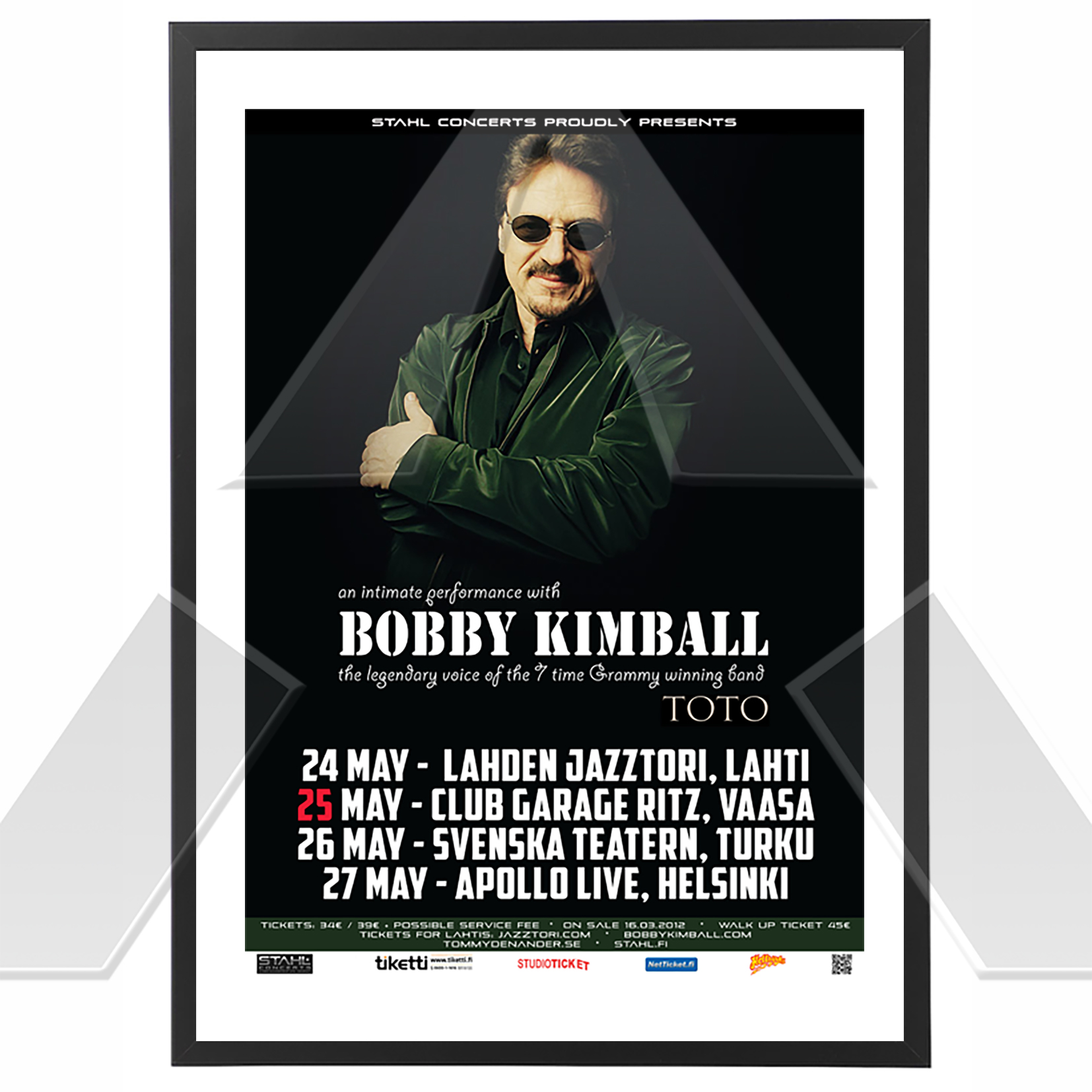 Bobby Kimball ★ An Intimate Performance 2012 (tour poster / signed)