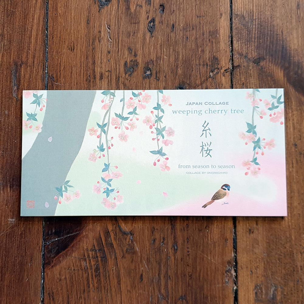 Japanskt brevpapper - Avlångt med körsbärsblom