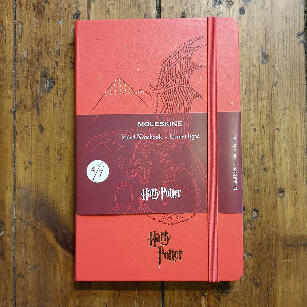Anteckningsbok - Harry Potter R L 4/7 Röd Moleskin