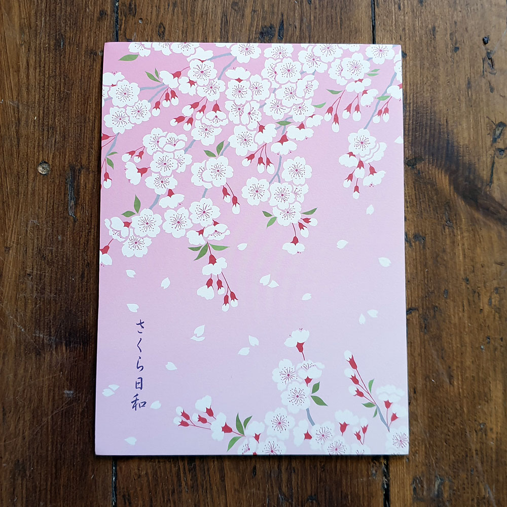Japanskt brevpapper - Rosa körsbärsblom