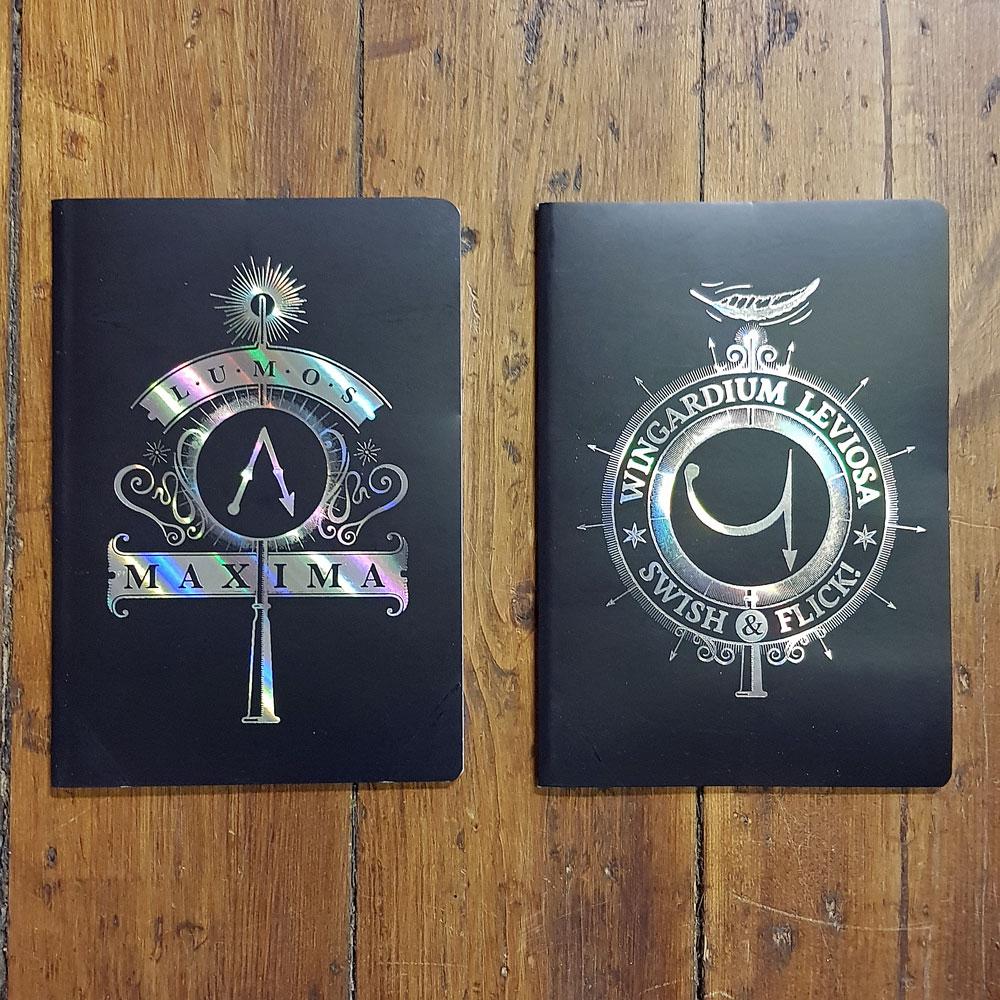 Anteckningshäfte - Harry Potter Notebook 2-pack spells
