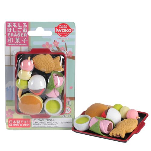 Iwako förpackade suddgummin - Japanska sötsaker