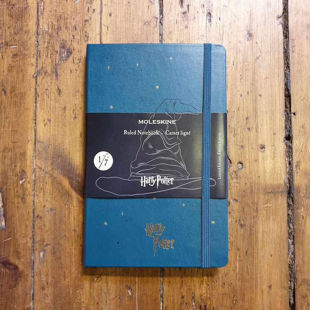 Anteckningsbok - Harry Potter R L 1/7 Grön Moleskin