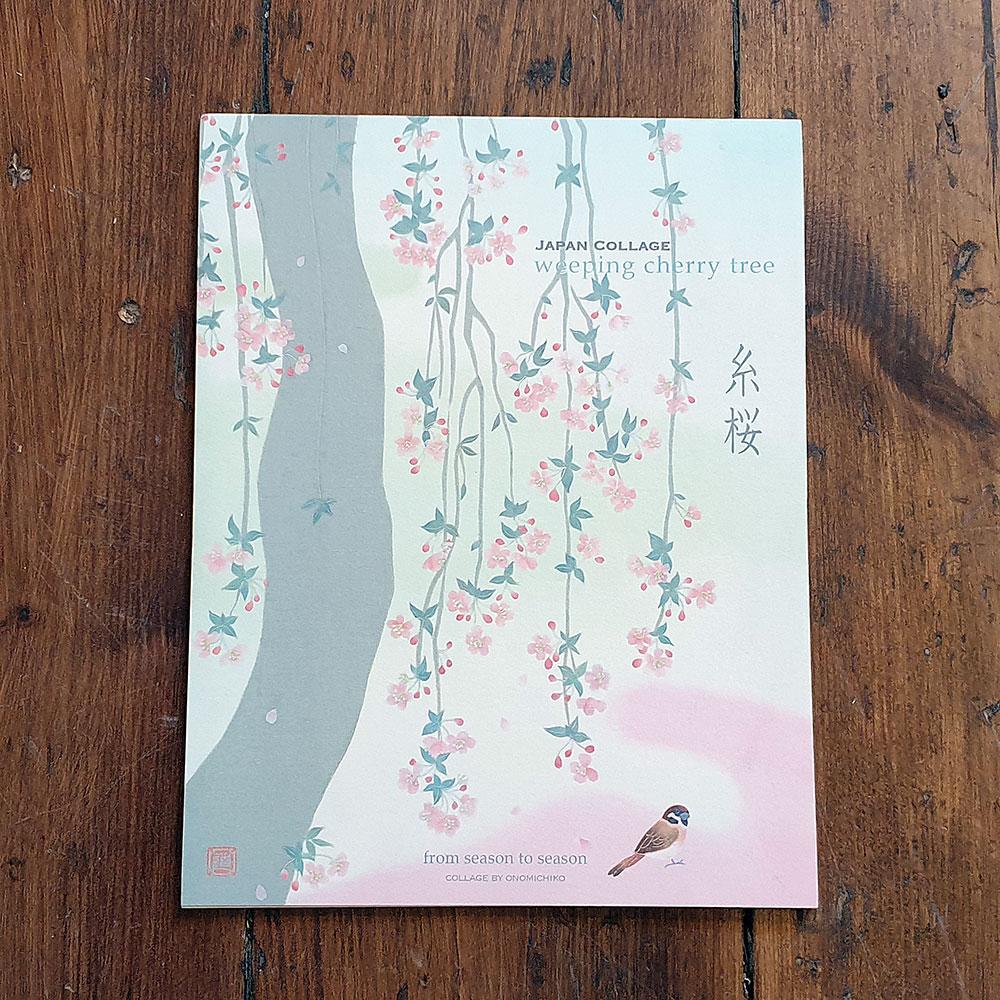 Japanskt brevpapper - Körsbärsträd