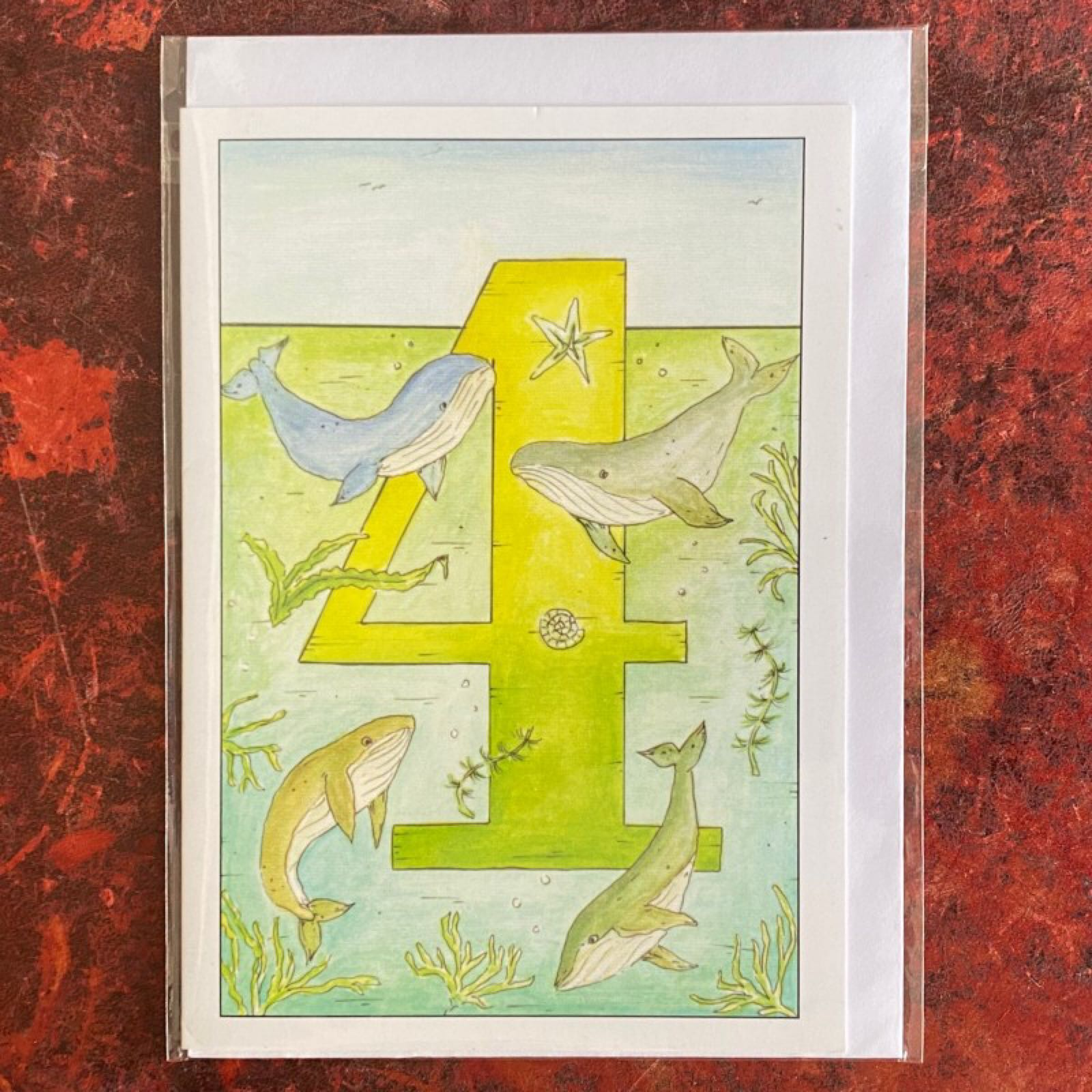 'Age 4' Claire Eatwell Designs Card
