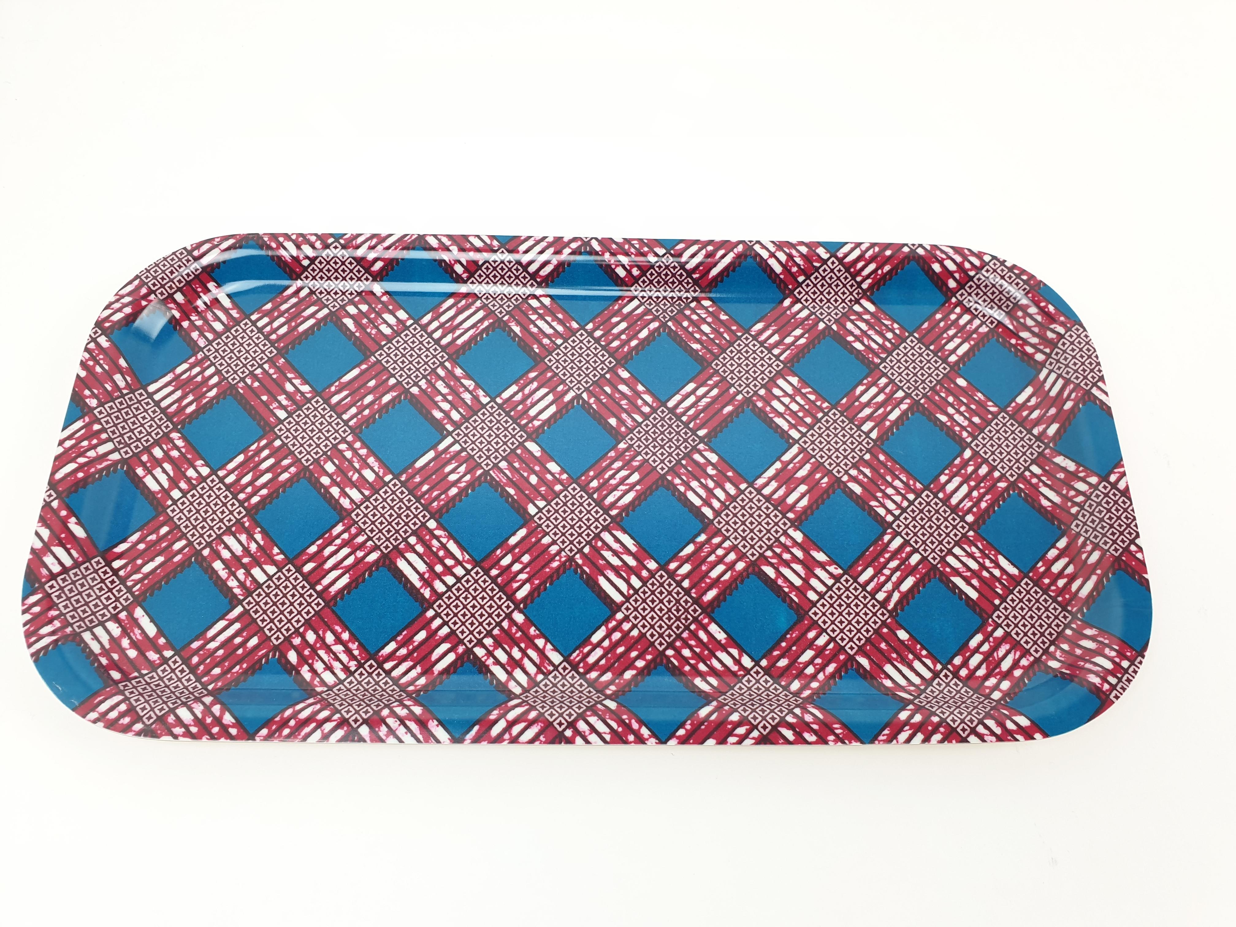 Bricka Avlång, afrikanskt tyg
