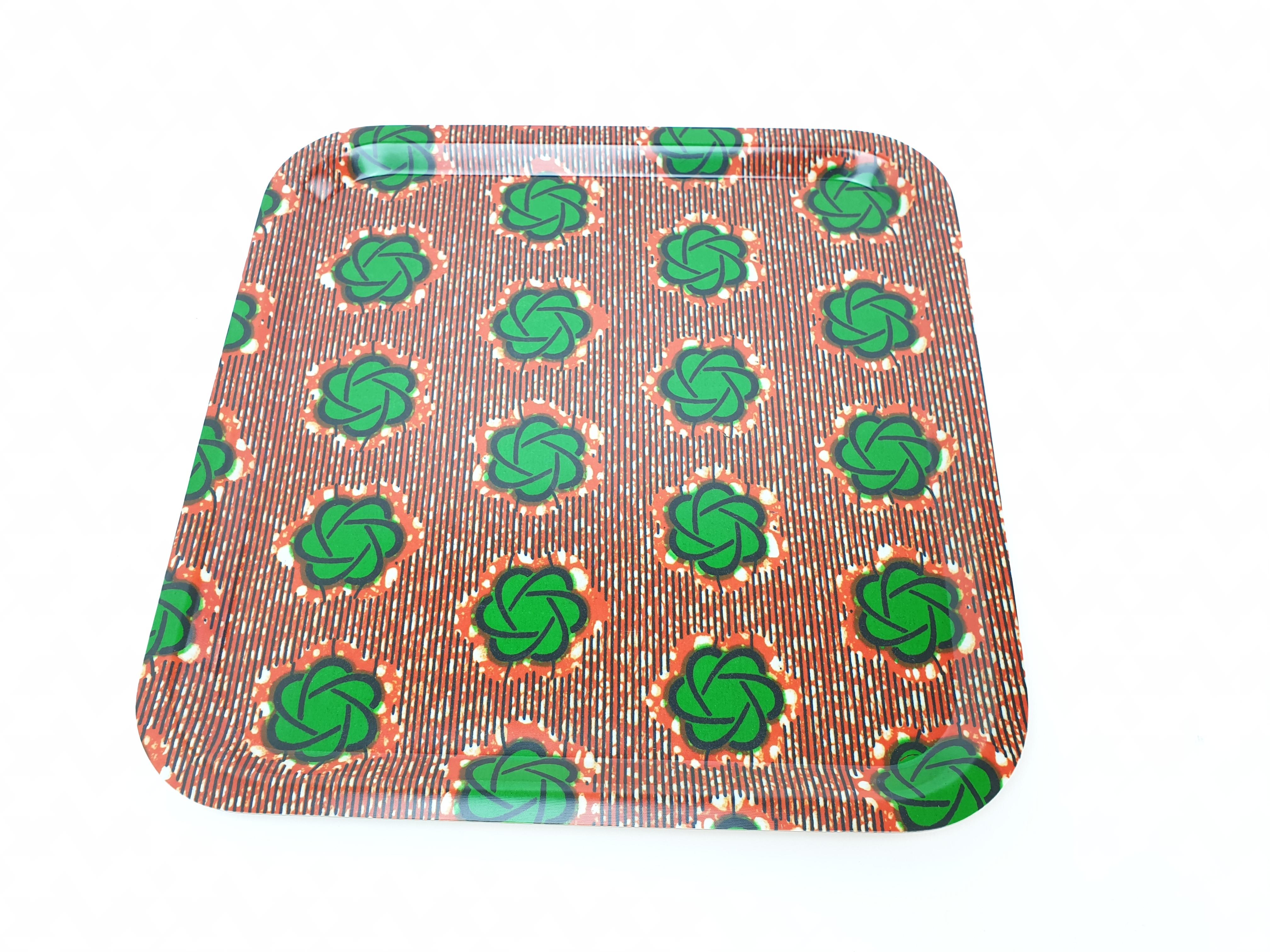 Bricka Fyrkantig, afrikanskt tyg