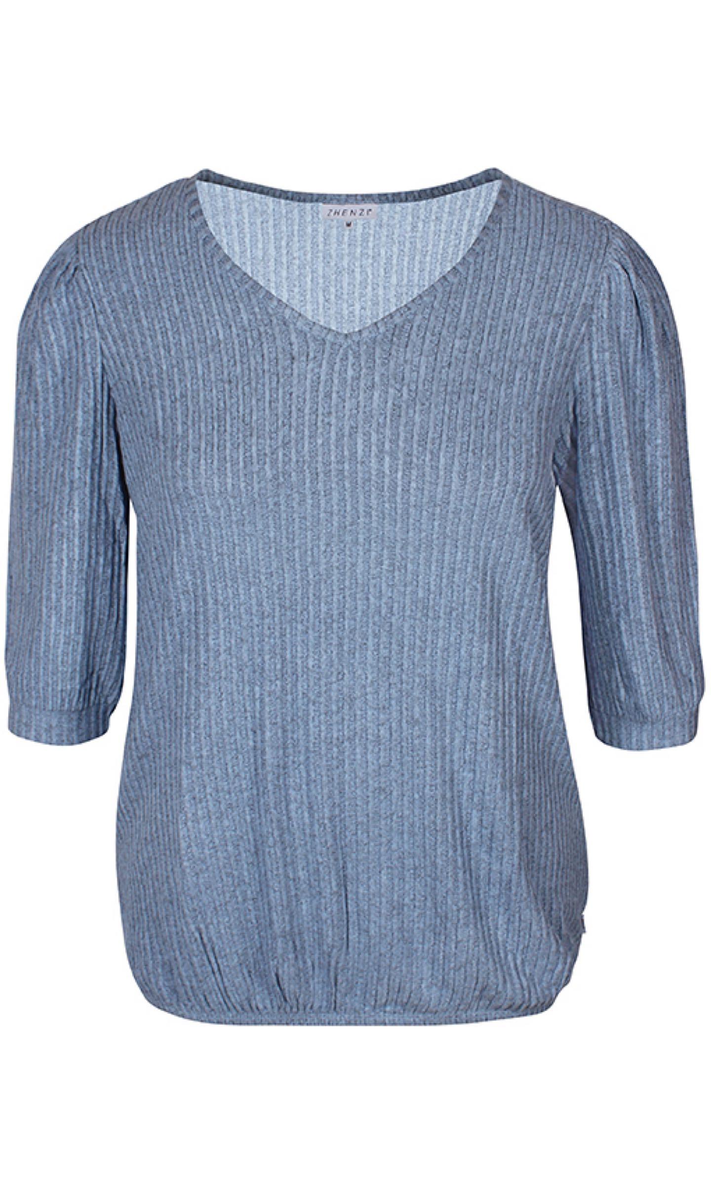 SHARA stickad tröja, duvblå