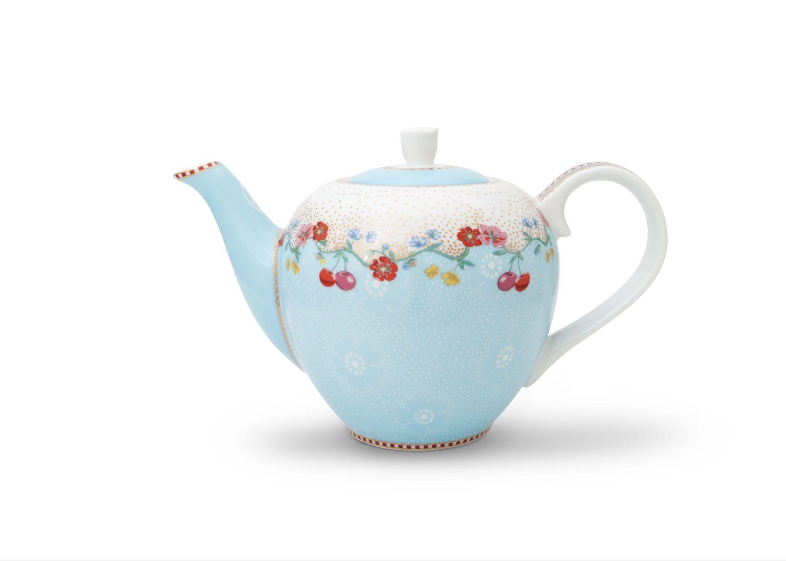 Pip studio cherry small blue teapot 750ml