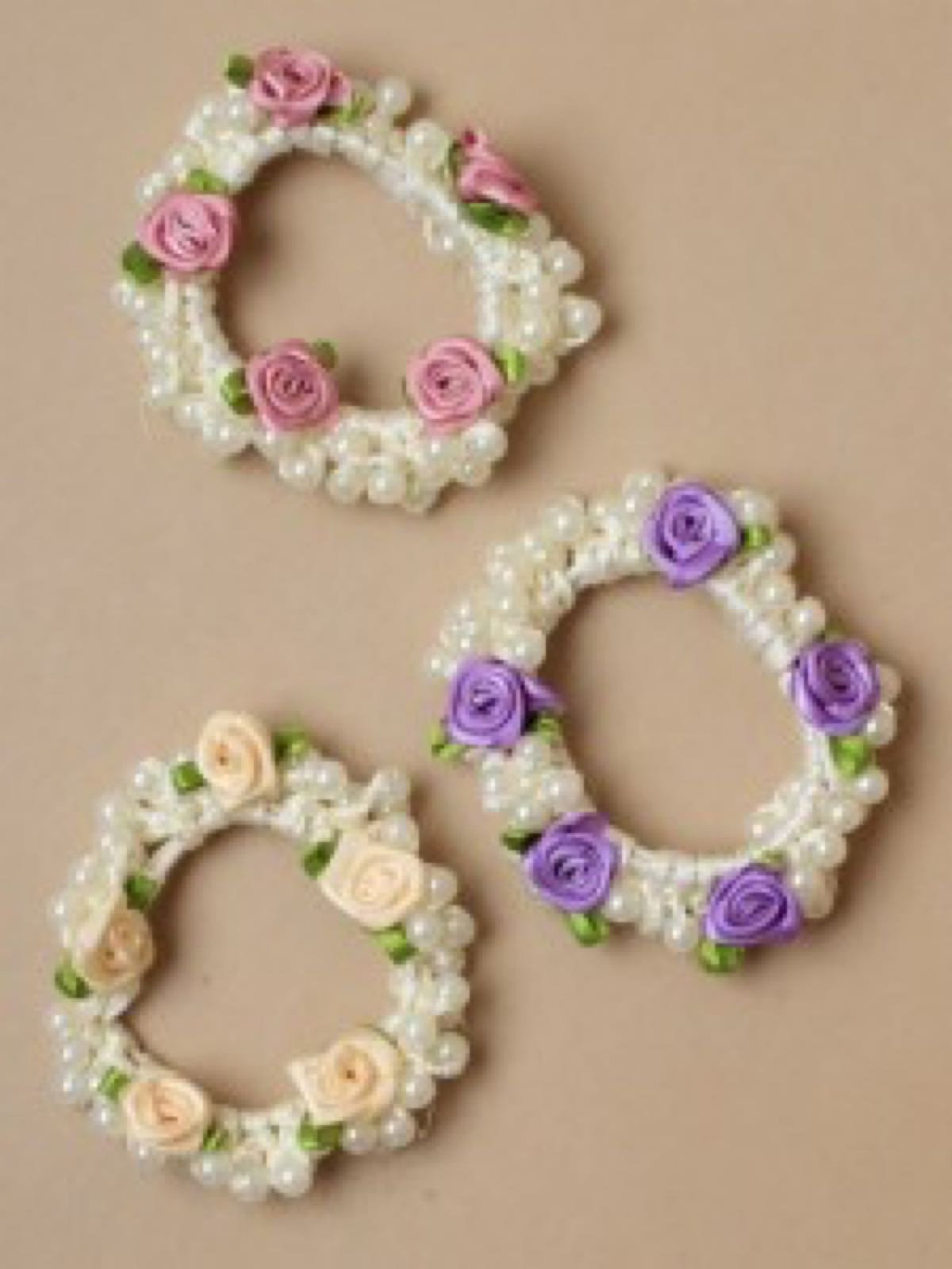 Pearl Flower Hairbands
