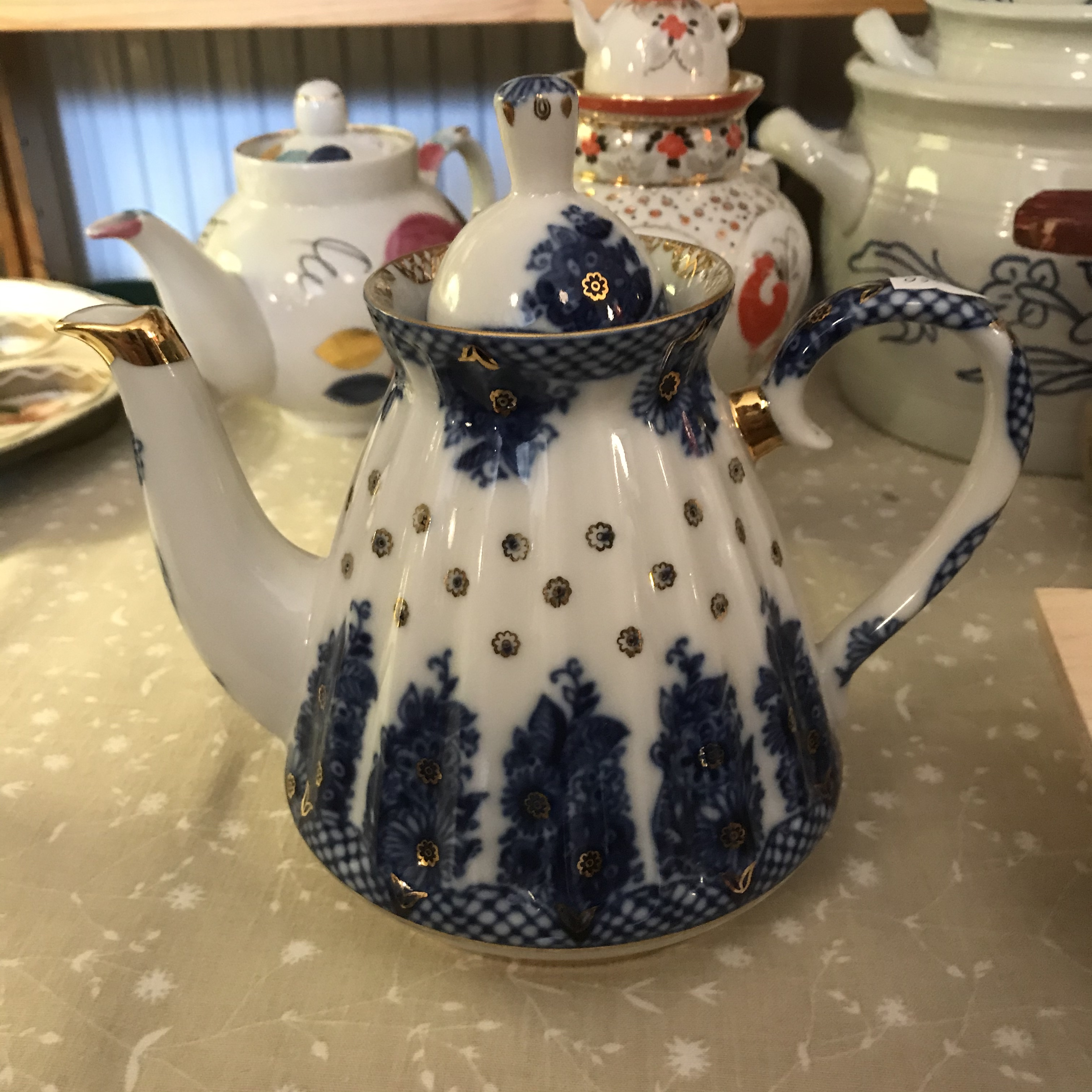 Lomonosov teekannu sininen