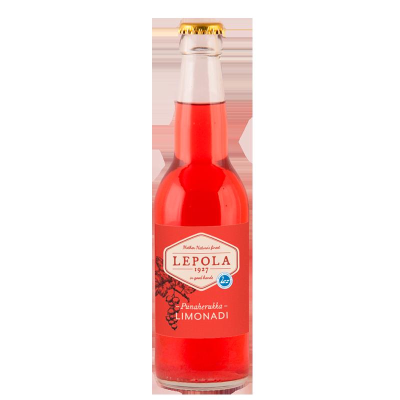 Lepola Punaherukka Limonadi 0% - 0,33l bottle