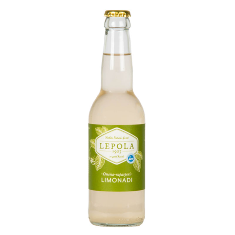 Lepola Omena-Raparperi Limonadi 0% - 0,33l bottle