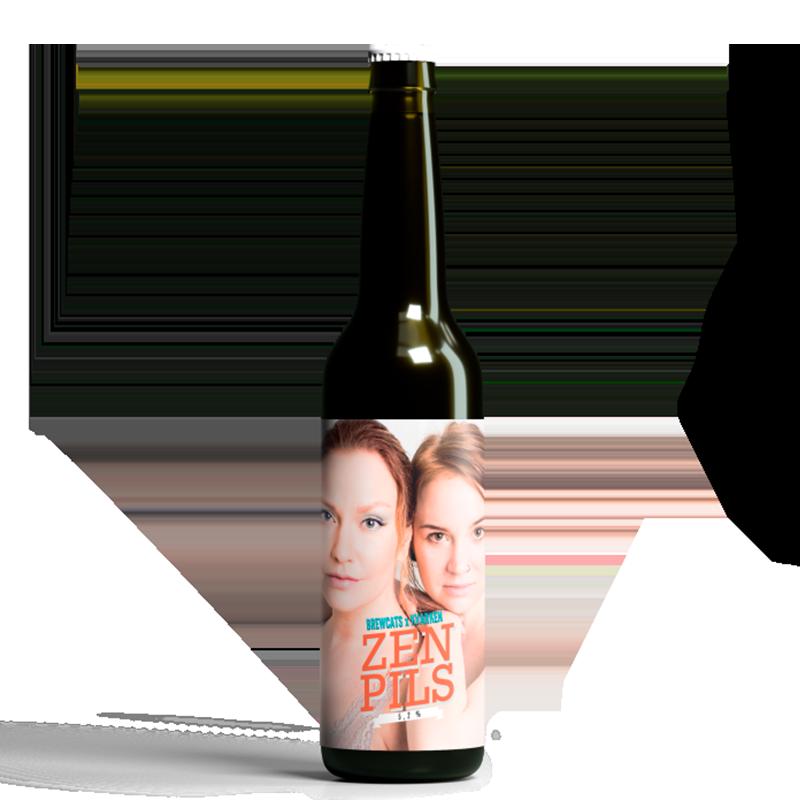 Brewcats x Kvarken Zen Pils 5,3% - 0,33l pullo