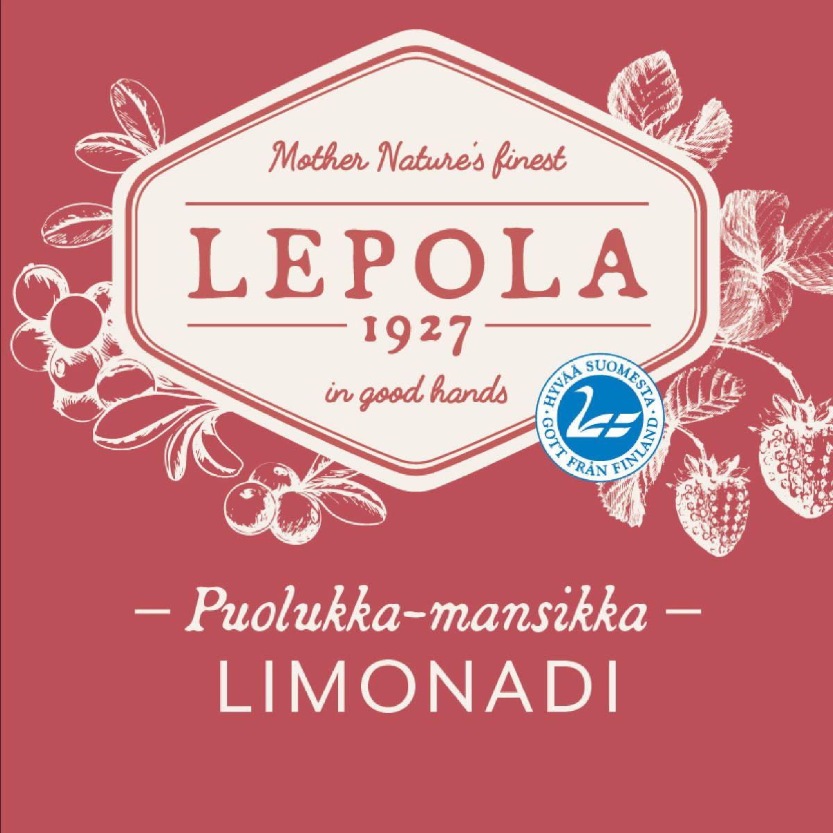 Lepola Puolukka-Mansikka Limonadi 0% - 0,33l bottle