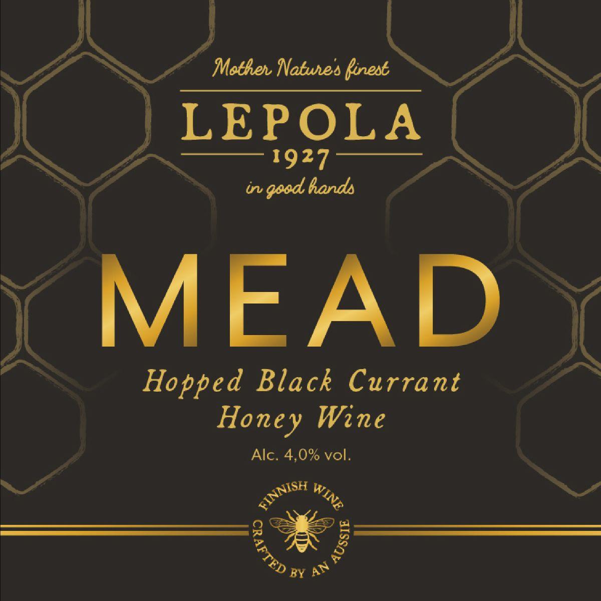 Lepola Hopped Black Currant Mead 4,0% - 0,33l bottle