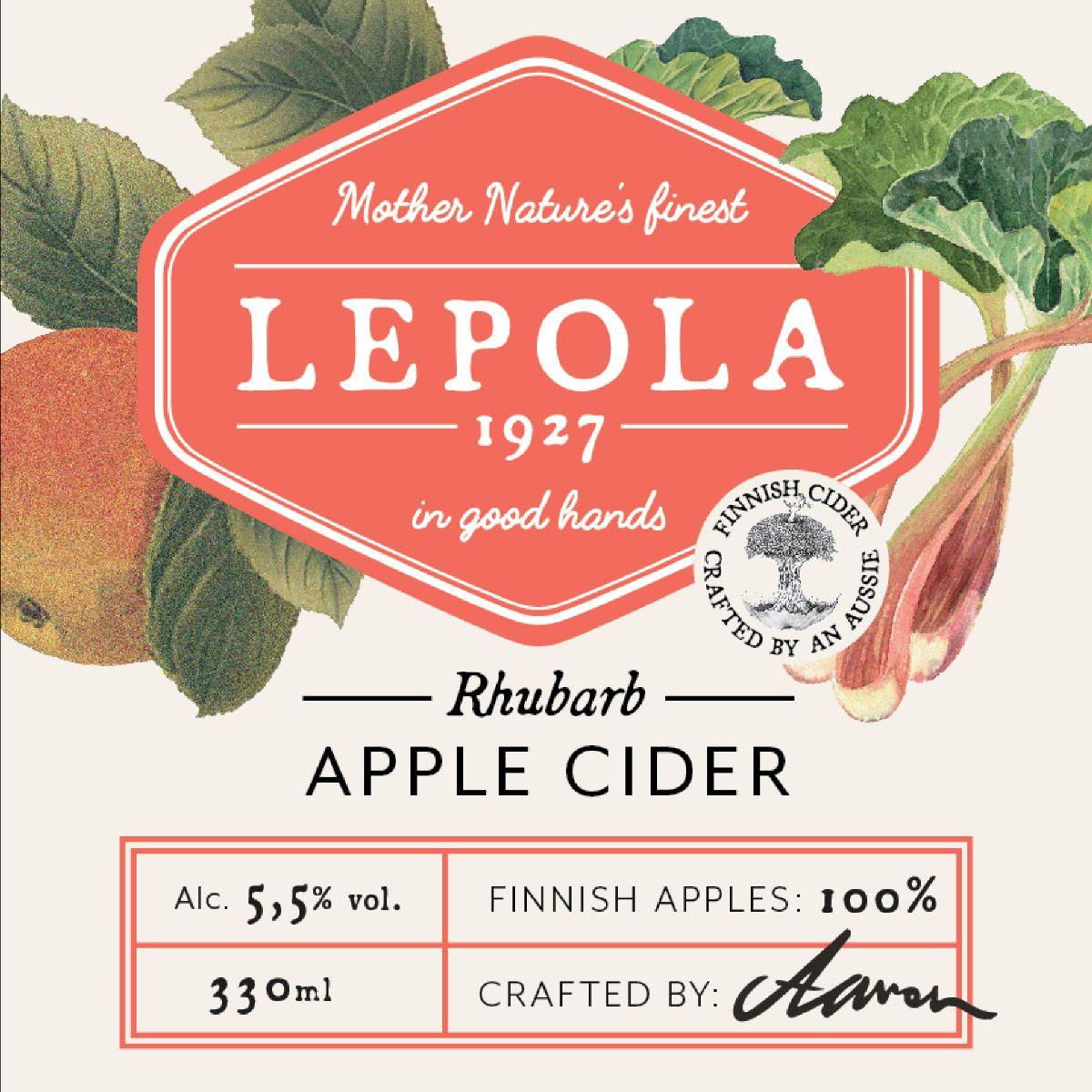 Lepola Rhubarb Apple Cider 5,5% - 0,33l bottle