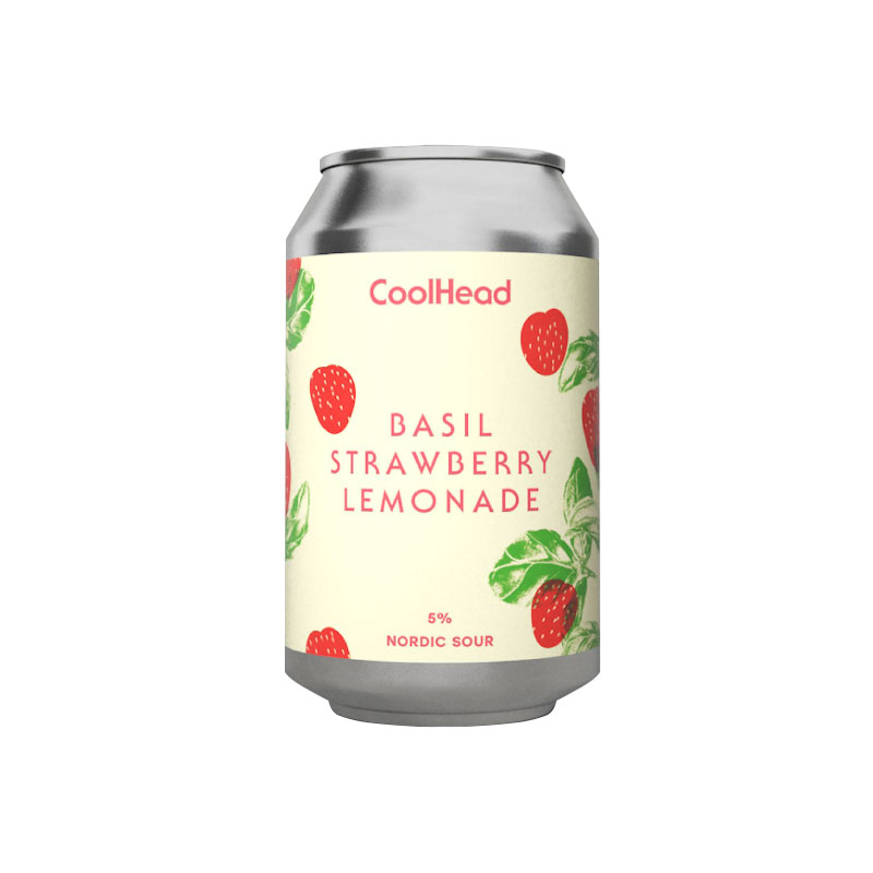 CoolHead Basil Strawberry Lemonade Nordic Sour 5,0% - 0,33l can