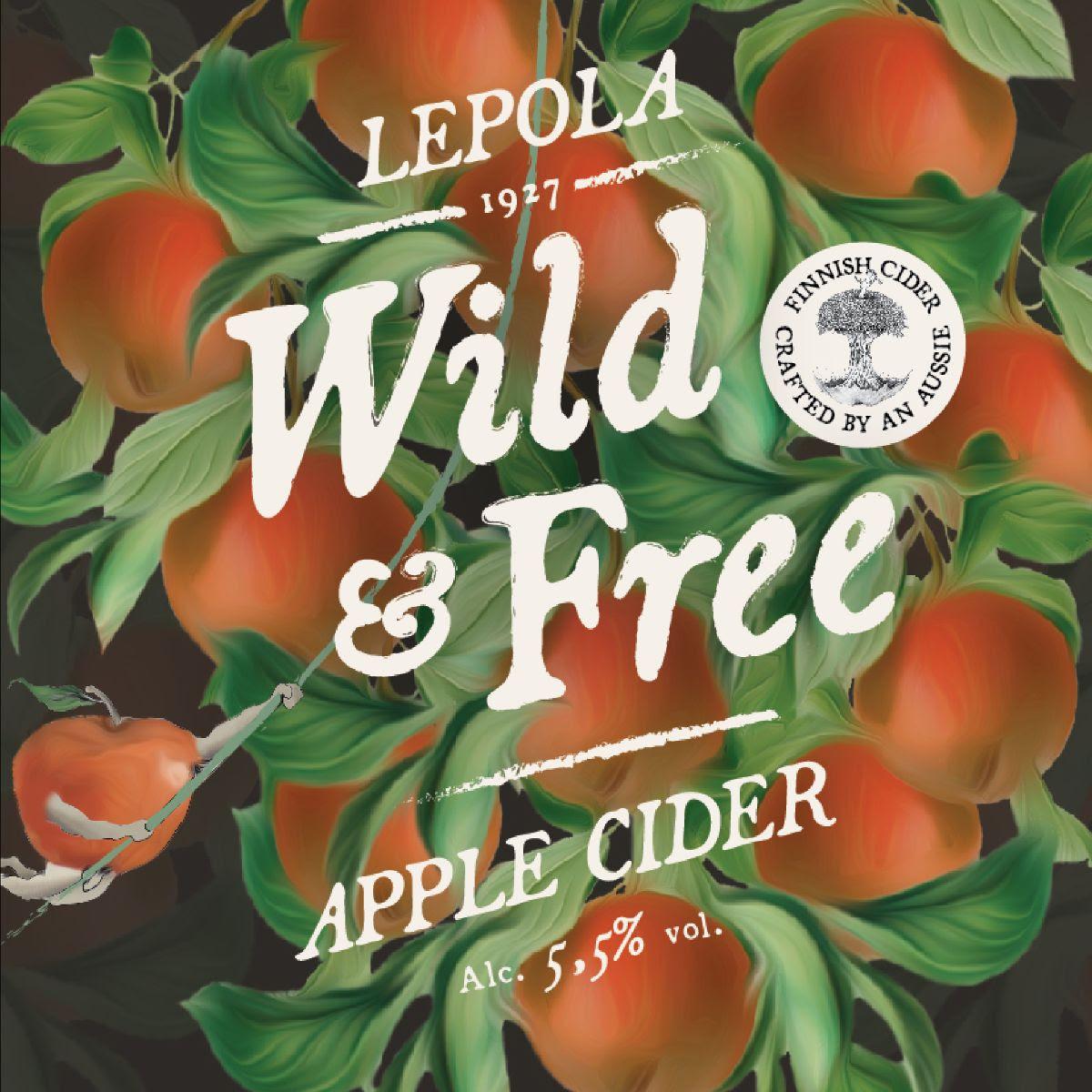 Lepola Wild & Free Apple Cider 5,5% - 0,33l bottle