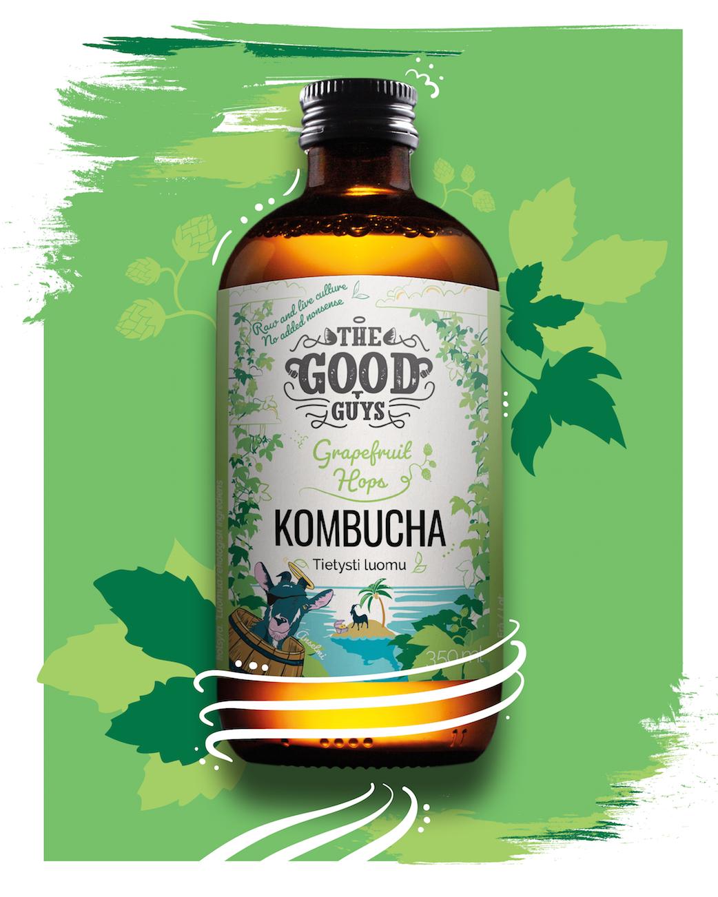 The Good Guys Hop Kombucha <1% (G) - 0,35l bottle