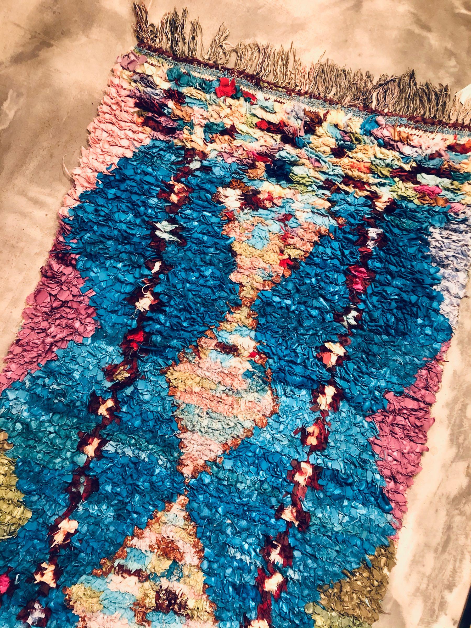 Boucherouite rug 93x176 cm