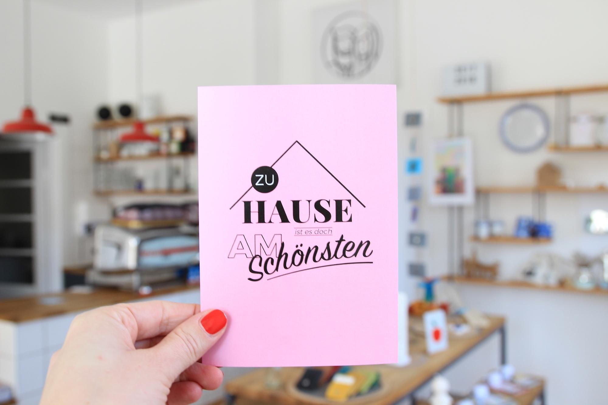 Postkarte zu Hause