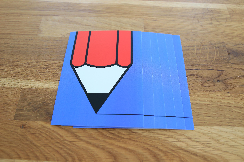 Postkarte Stift