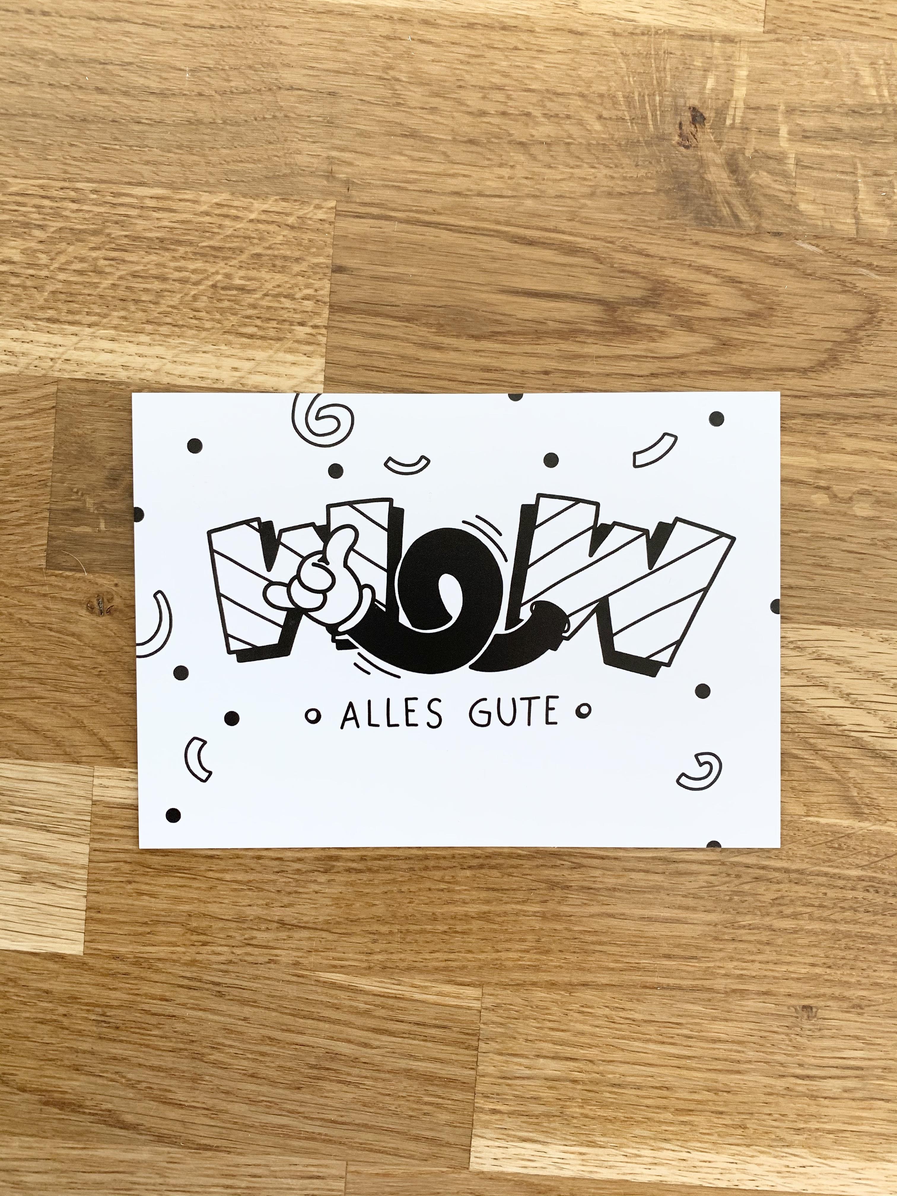 Postkarte WOW