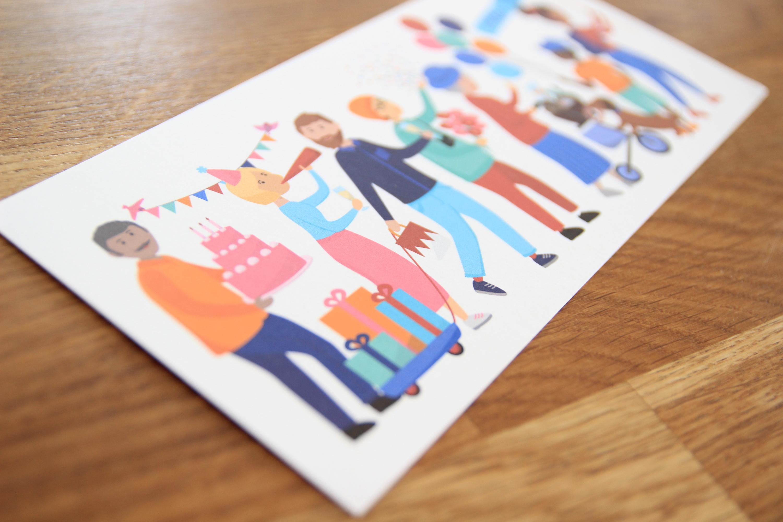 Geburtstagskarte Parade