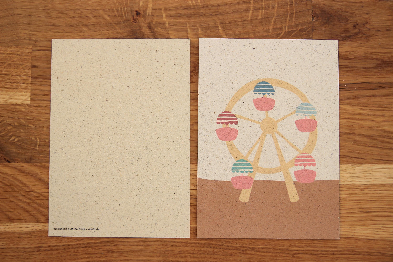 Postkarte Volksfest