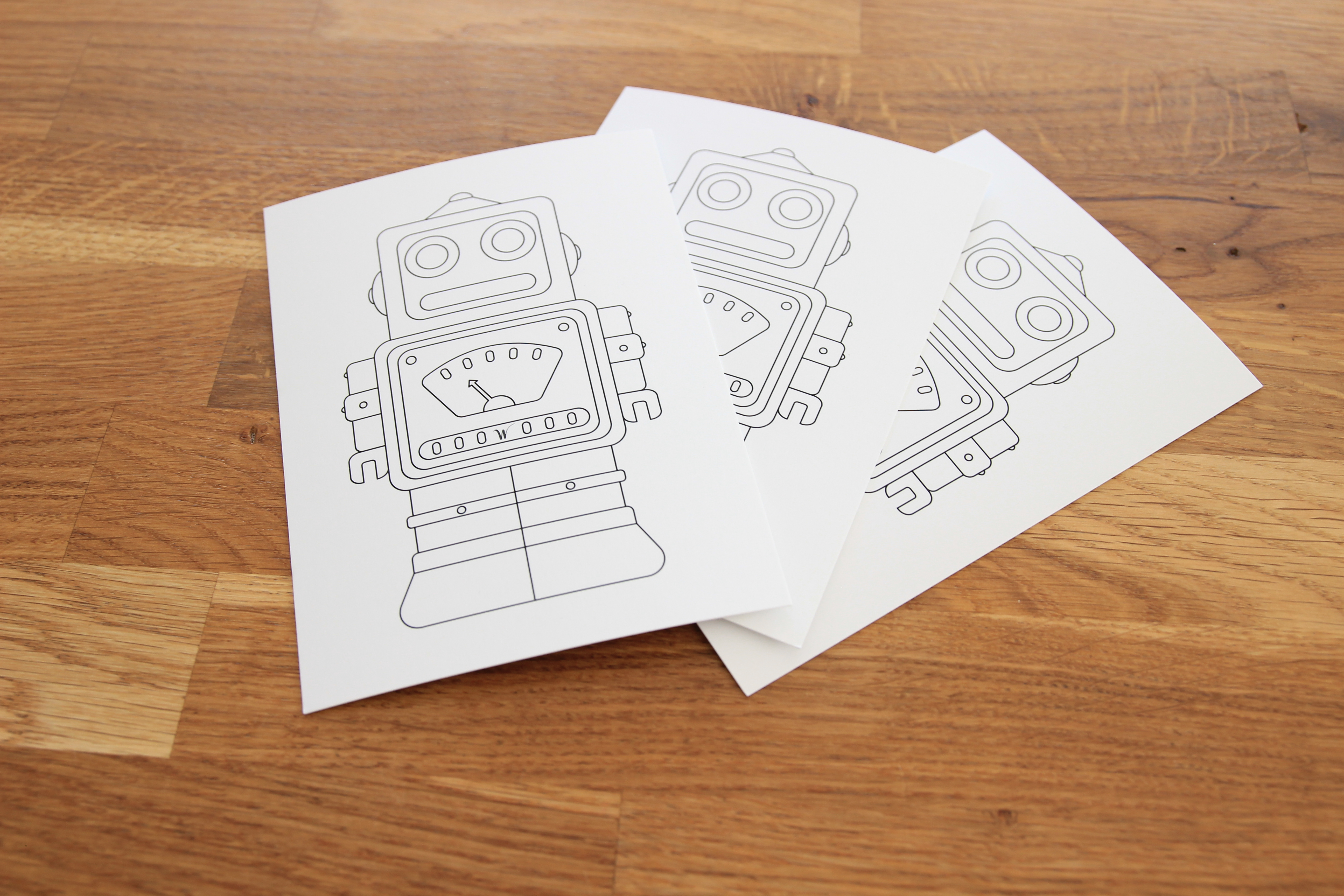 Postkarte Roboter